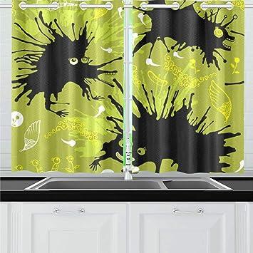 Amazoncom Interestprint Insulated Blackout Window Curtain Black