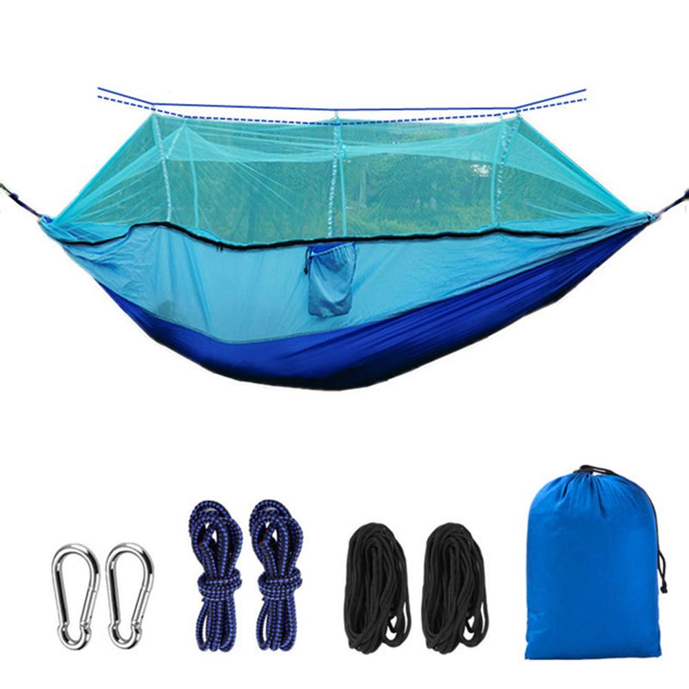 D Outdoor Camping hammocks Include Mosquito nets  Portable Indoor Outdoor Backpacks for Survival and Travel, Mountain Climbing, courtyards, Beaches, Tours.
