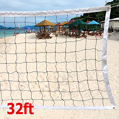 Yaheetech Volleyball Net with Steel Cable Rope Tournament Full Size Outdoor/Indoor Practice Net 32 FT x 3 FT