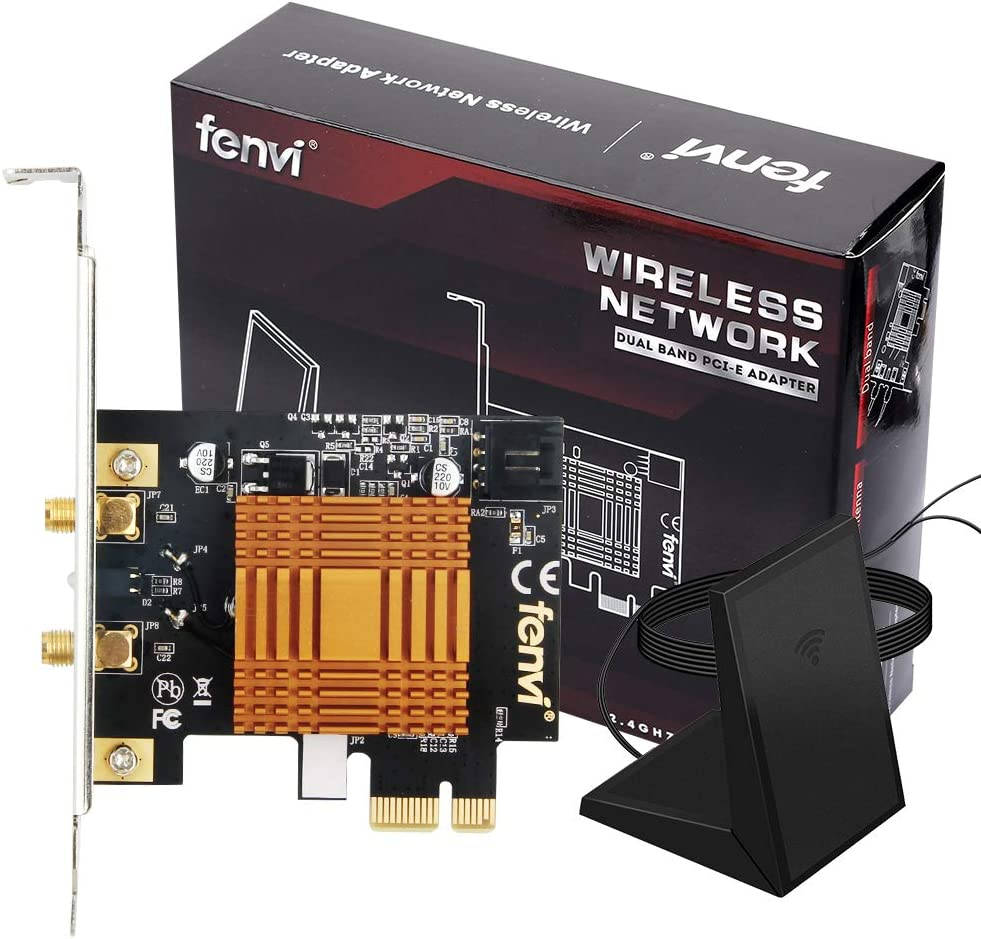 Desktop 8260ngw Dual Band Wireless-ac 8260 PCIe 1200mbps WiFi Card for Windows 7 8 10 Support WiDi Wi-Fi Direct Wi-Fi Miracast WMM Support WPS v2 and WPS 802.11 a/b/g/n/ac BT 4.2 PCI Express Card