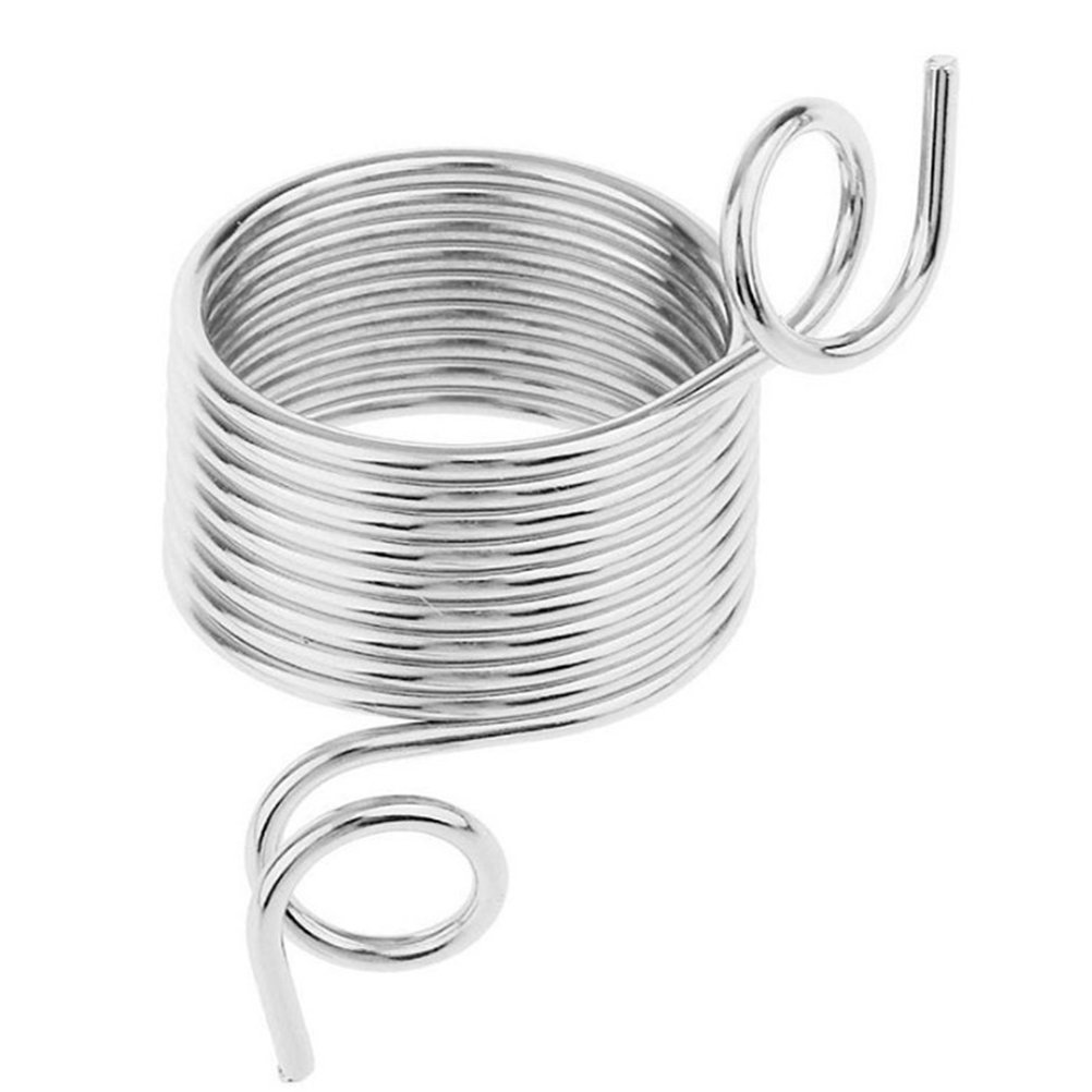 SUPVOX Stainless Steel Metal Yarn Guide Knitting Thimble Wool Weaving Tools for Knitting - Large 4pcs 19mm