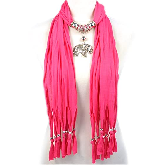 Huan xun lovely jewelry scarf alloy charm elephant pendant hot huan xun lovely jewelry scarf alloy charm elephant pendant hot pink aloadofball Images
