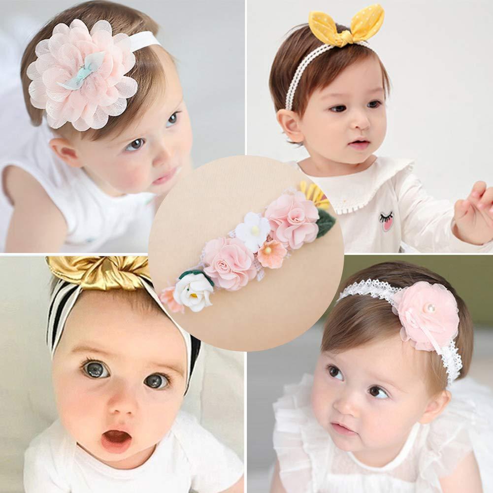 Nouveau-n/é DDG EDMMS enfant en bas /âge photo Props mignon b/éb/é fille Bandeau Floral Bow Hairband