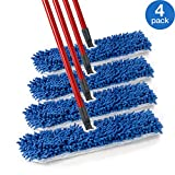 O-Cedar Dual Action Microfiber Flip Mop Damp/Dry All Surface Mop (Pack of 4)