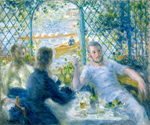 Lunch At The Restaurant Fournaise The Rowers' Lunch Pierre Auguste Renoir 1875 32X26 Inch(Ultra Giclee On Canvas, Stretched, Ready To Hang, Made In Canada)