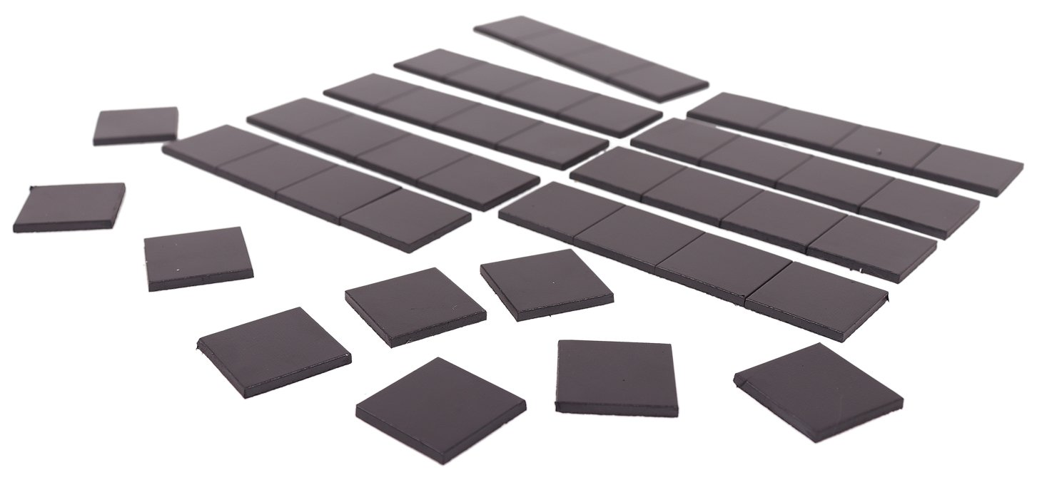 45-Piece Magnetic Squares for Classroom, Refrigerator Crafts, Light DIY