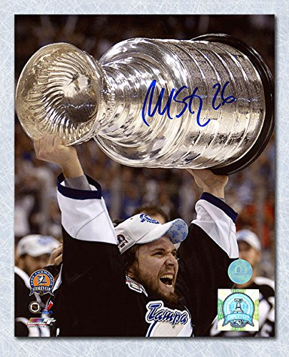 - AJ Sports World Martin St. Louis Tampa Bay Lightning Autographed 2004 Stanley Cup 8x10 Photo