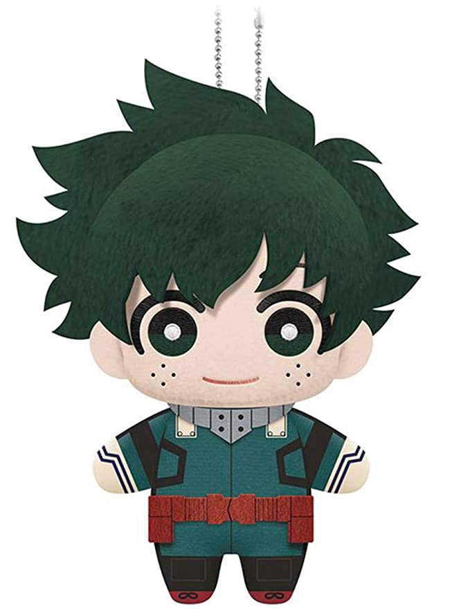 "Little Buddy 1695   My Hero Academia Izuku Midoriya Plush Dangler, 6"", Multicolor by Little Buddy"