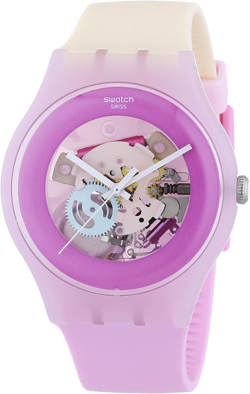 Swatch New Gent Sweet Me - Reloj de Cuarzo para Mujer, con Correa de Goma, Color Multicolor