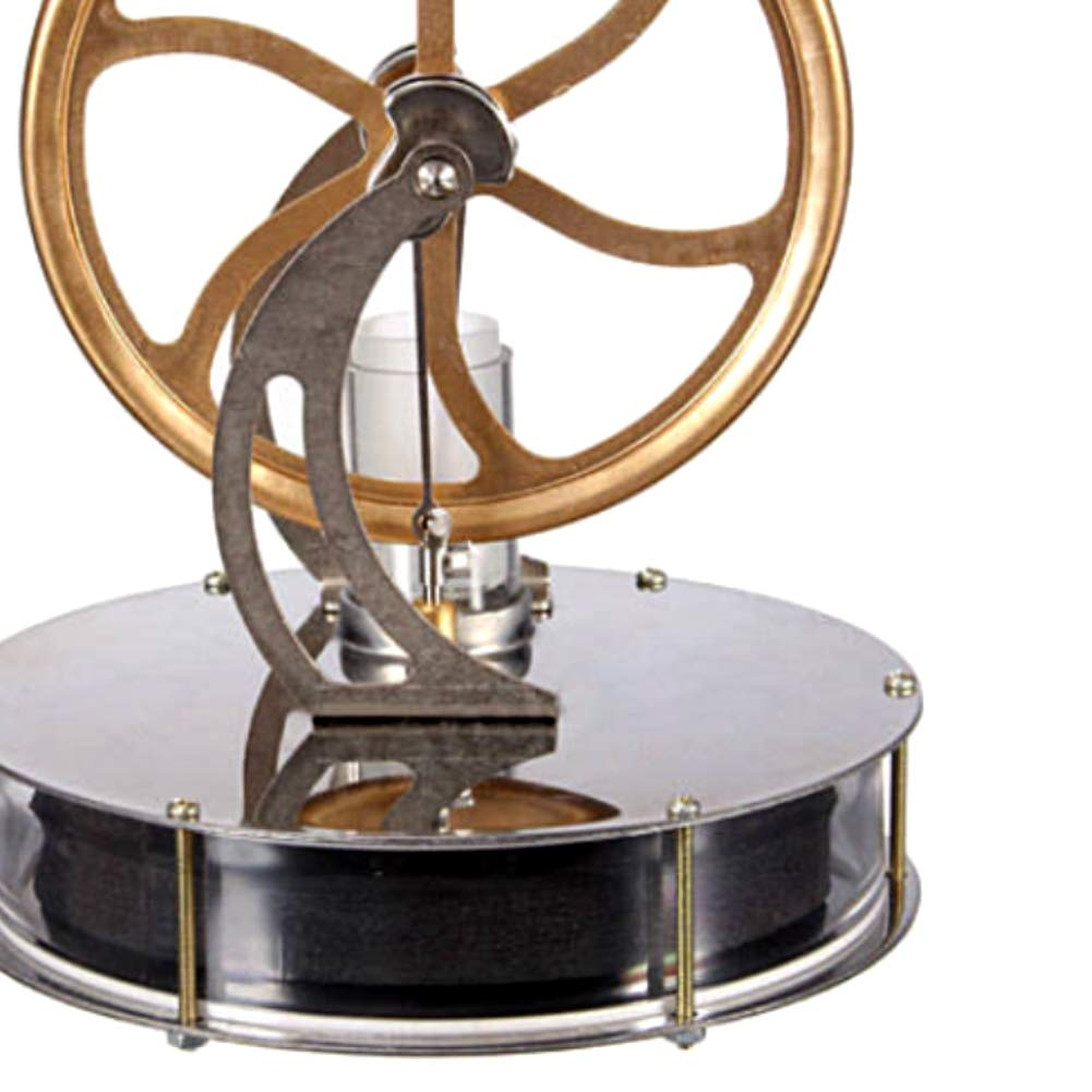 At27clekca Low Temperature Stirling Engine Model Steam Machine Science Educational Toy Electricity Generator by At27clekca (Image #6)