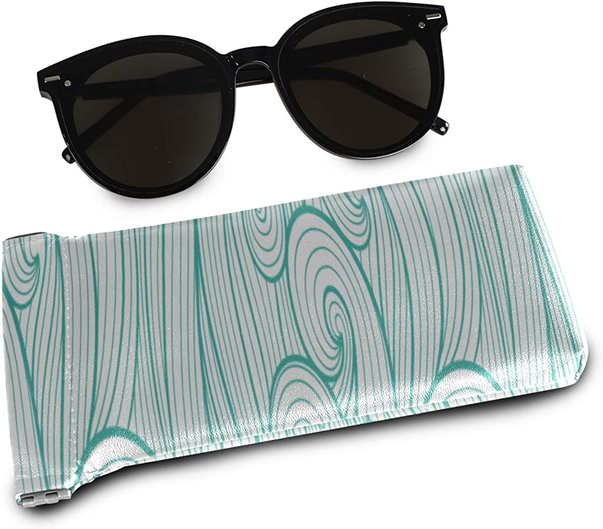 Squeeze Top Fashion Glasses Case Abstract Colorful Curly Lines Patterns Portable Glass Case For Eyeglasses Eyeglass Cases Sunglasses Pouch Eyeglass B