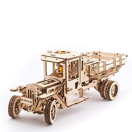 UGEARS 3D Self Propelled Wooden Model UGM 11 Truck