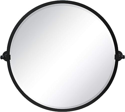 26 Inch Round Pivot Bathroom Mirror