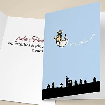 20er Set Süße Weihnachtskarten mit schwebendem Engel, mit ihrem ...