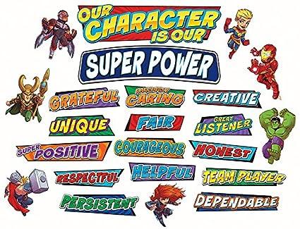 Eureka Back to School Marvel Superhero Adventure 'Our Character' Mini  Bulletin Board and Classroom Decorations, 35pc, 6'' W x 21'' L
