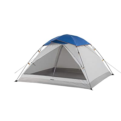 7' X 3-Person Dome Tent Blue Grey Polyester Polyethylene Includes Carry Bag Uv Protection Water Resistant: Home & Kitchen