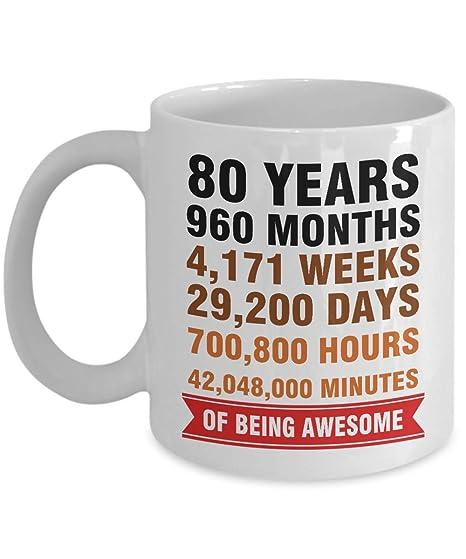 Amazon.com: 80 años de edad, meses, semanas, días, horas ...