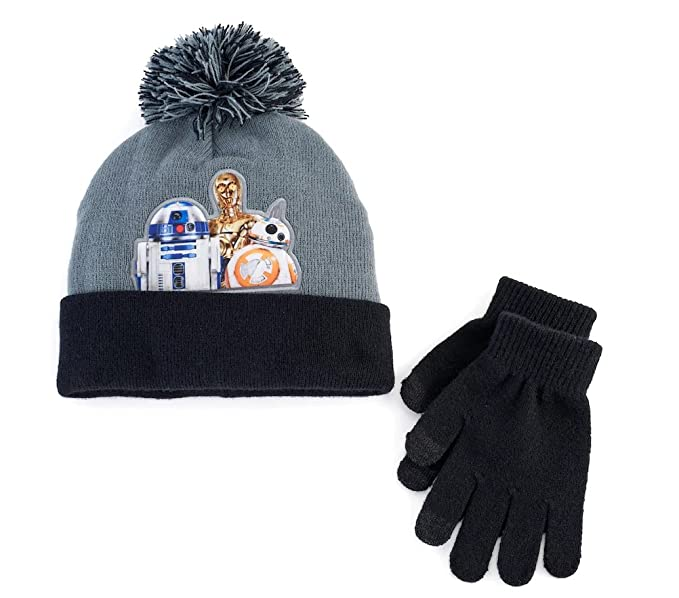 1bc1ad547bf Image Unavailable. Image not available for. Color  Boys Star Wars Droids Pom  Pom Hat ...
