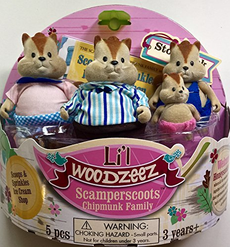 Li'l Woodzeez Scamperscoots Chipmunk Family