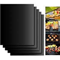 Dailyart Grill Mats Non Stick Set of 5 BBQ Grill Mat Baking Mats FDA-Approved PTFE Teflon BBQ Accessories Grill Tools…