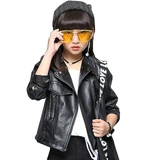 7a951516b991b5 YY-Natuhi 子供服 女の子 フェイクレザー ライダースジャケット おしゃれ キッズ 女児 アウター コート 長袖