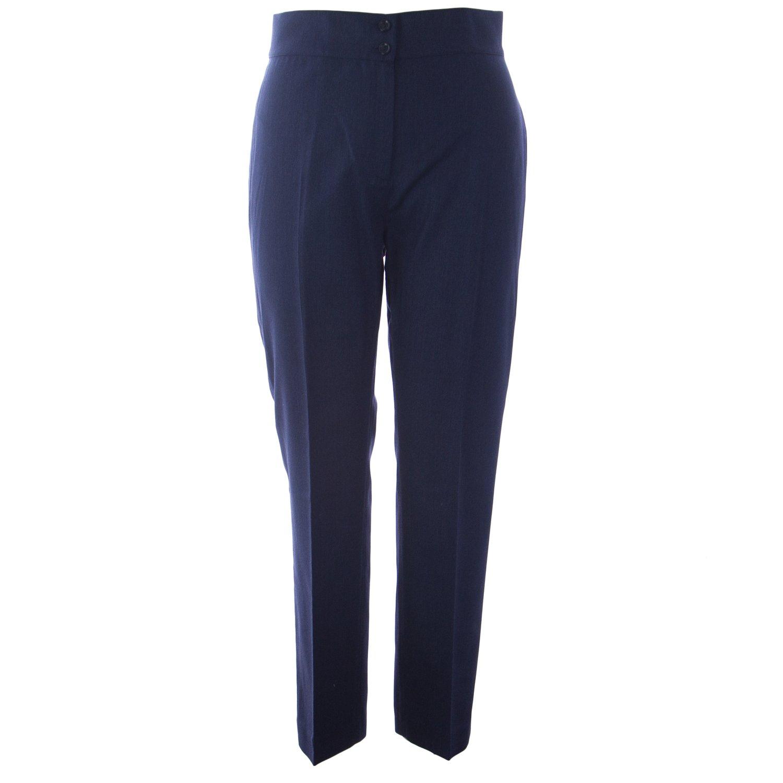 Marina Rinaldi Women's Rimini High Waisted Trousers 14W / 23 Navy