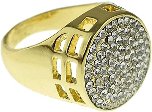 Bling Cartel Round Circle Chunky Hip Hop Ring Micro Pave ...