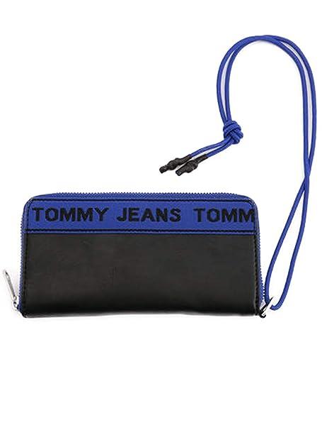 Tommy Hilfiger - Cartera para Hombre Hombre Nero BLU Rosso Talla única