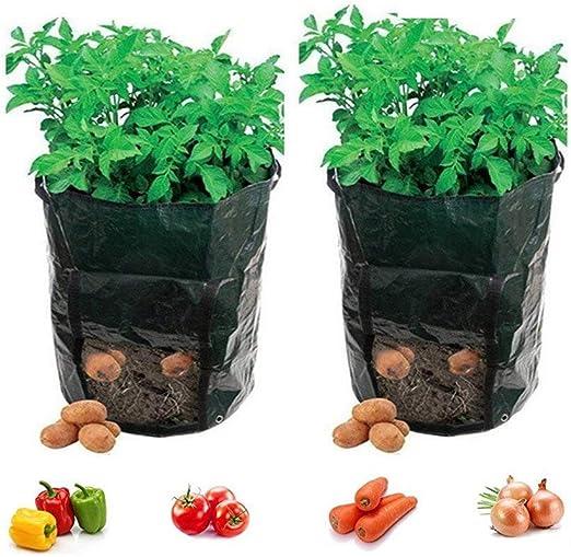Fangfang - Bolsas de cultivo para plantas de 7 galones, con asas y ...
