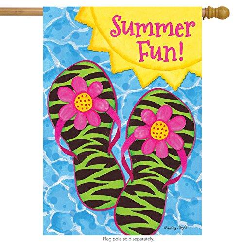 Briarwood Lane Flip Flop Pool Party Summer House Flag Sunshi