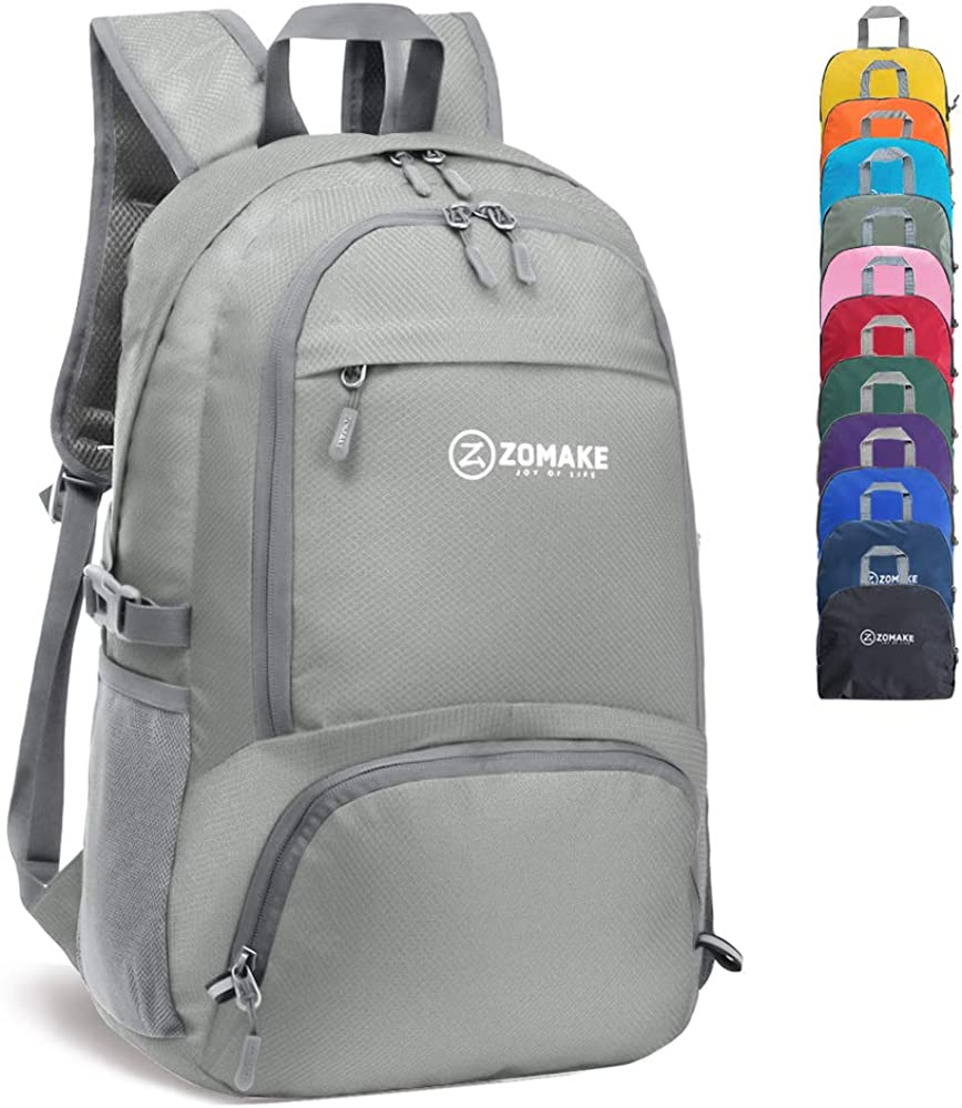 ZOMAKE 30L Lightweight Packable Backpack Water Resistant Hiking Daypack,Small Travel Backpack Foldable Camping Outdoor Bag