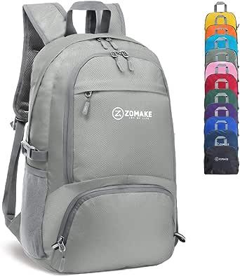 Mochila leve de 30 L ZOmake resistente à água para caminhadas, mochila pequena de viagem, bolsa dobrável para acampamento ao ar livre