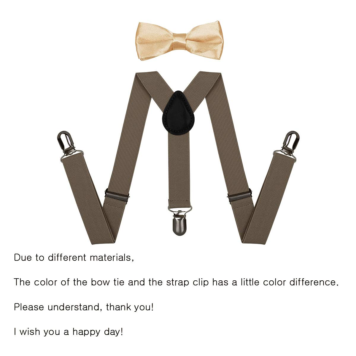 Adjustable Braces With Bowtie Gift Idea for Boys and Girls by WELROG Kids Suspender Bow Tie Sets Yellow