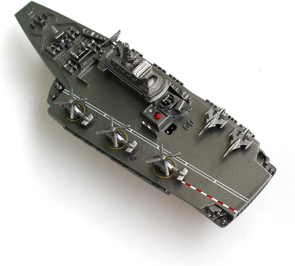 Tipmant Military RC Naval Ship Vessel Model Remote Control Boat Speedboat Yacht Electric Water Kids Toy Silver Yingmate