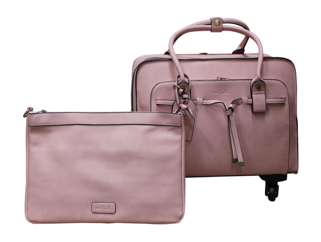 Simply Noelle All Tied Up Roller Bag, Rose