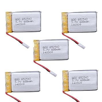 FamilyMall(TM)5 X Batería para Drone Syma X5c X5 3.7V 600mAh 25C ...