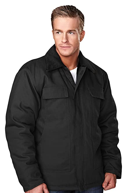 Amazon.com: Men's Cotton Canvas Polyfill® Quilted Lined Canyon ...