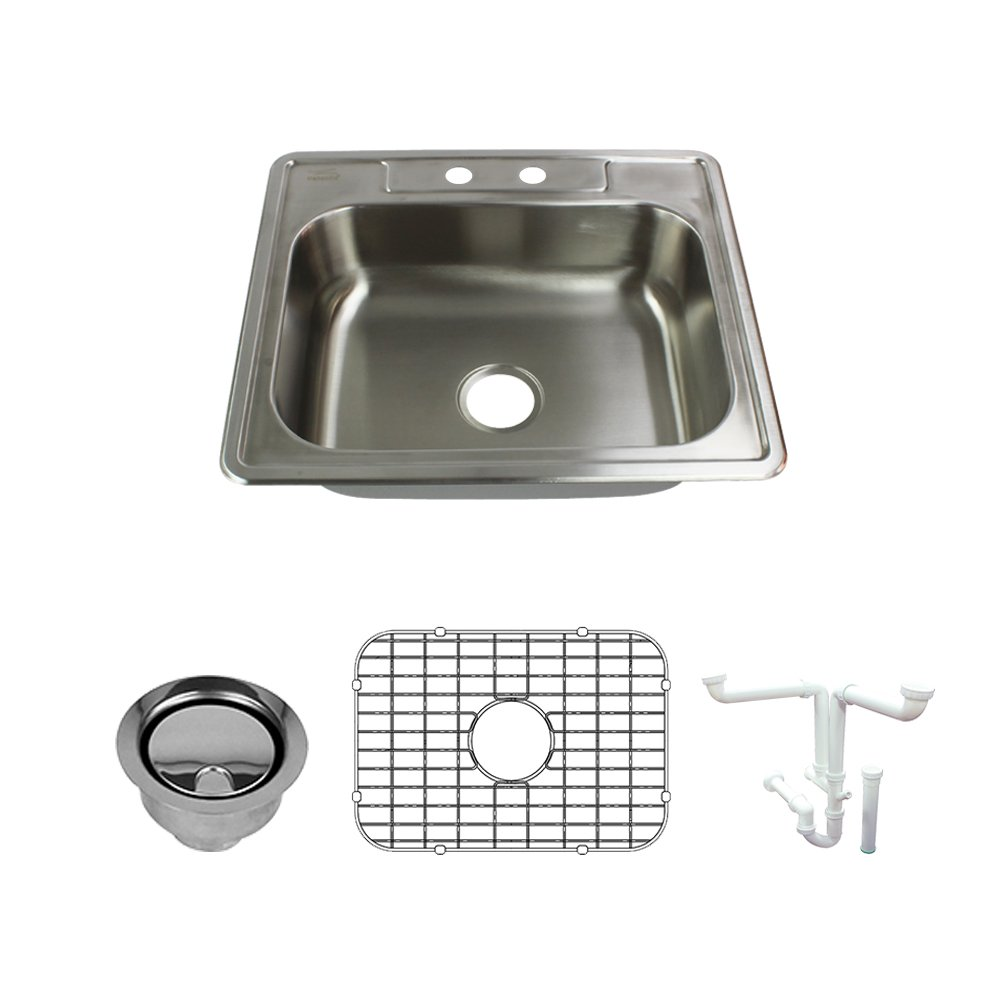 22.0156 L x 25 W x 7 H Brushed Stainless Steel Transolid K-STSB25227-2 Sink