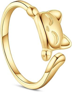 Oro Rosa SHEGRACE Semplice Anello Aperto Regolabile da Donna in Argento 925