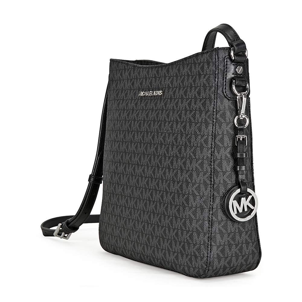 c9acb46a1ce3b1 MICHAEL Michael Kors Jet Set Travel Large Logo Messenger (Black):  Amazon.in: Shoes & Handbags