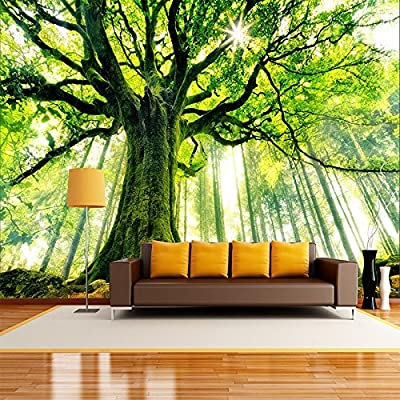 XLi-You 3D Forest Tree-View High-Definition Tv Background Wall Paper Living Room Sofa Large Seamless Wall Painting.