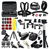 Soocoo Action Camera Accessories Kit for AKASO EK7000 APEMAN Campark ODRVM NEXGADGET EKEN WIMIUS Lightdow Vtin SJCAM SJ4000 5000 6000 7000 SOOCOO C30/C10S Cameras - Black Silver (49 Items)