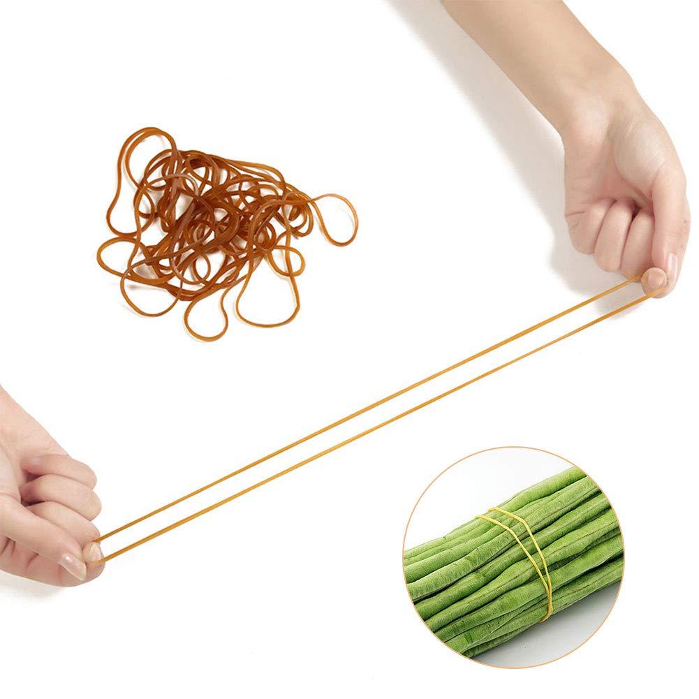 Xiangmall 100 Piezas Bandas de Goma Amarillo Rubber Bands Gomas El/ásticas para Office School Industrial Crafts Uso diario familiar Four inches