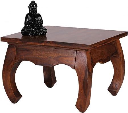 d 60 60 x DESIGN KADIMA cm Forme Table Sheesham Basse Solide oxedrBC