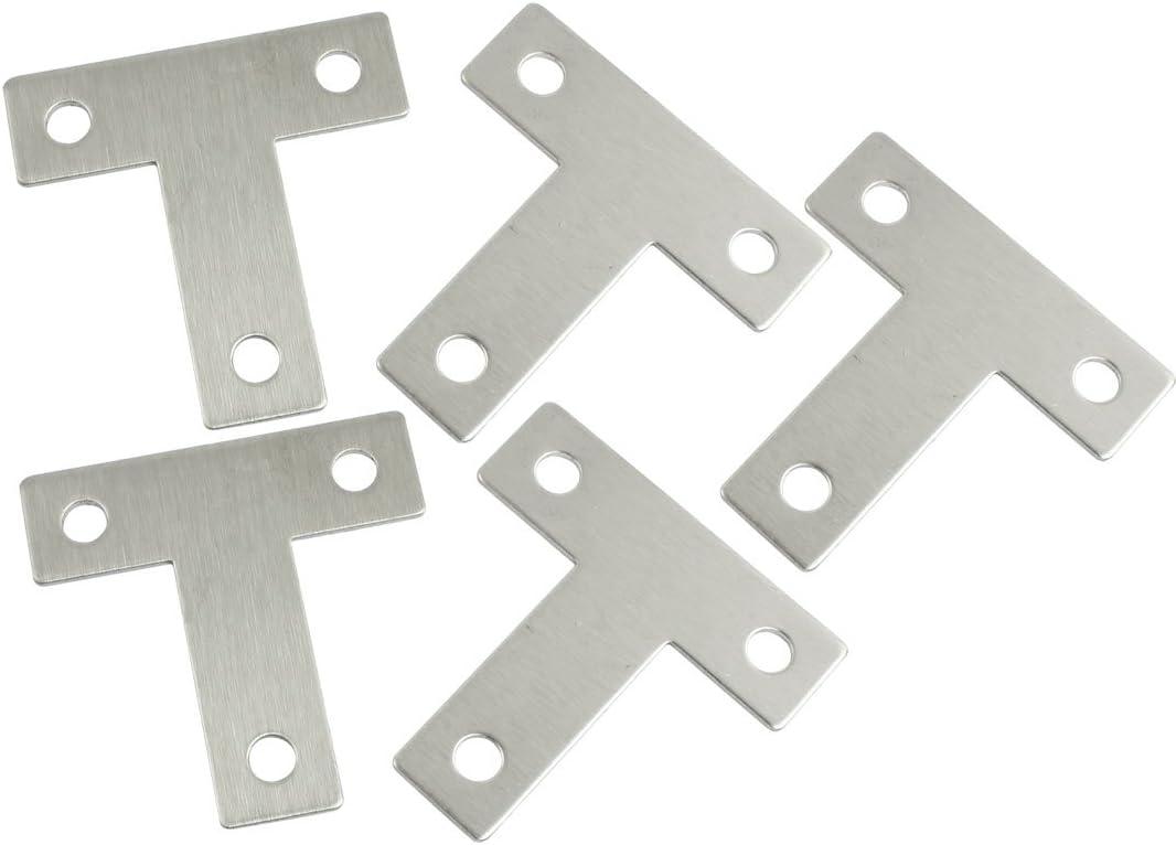 40mm x 40mm Metal 90 Degree Right Angle Bracket Shelf Support Silver Tone 5pcs
