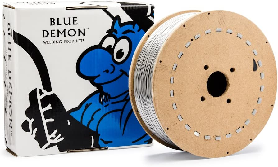Blue Demon 308LT1//4 X .035 X 33LB Spool stainless steel flux core gas shielded welding wire