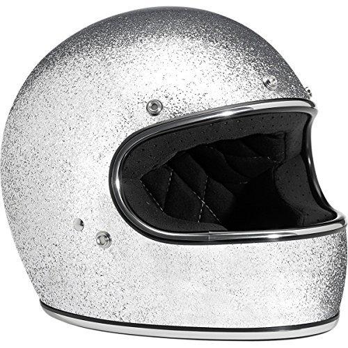 Silver Performance Street Helmet - Biltwell Inc. Gringo Solid Helmet, Distinct Name: Silver, Gender: Mens/Unisex, Helmet Category: Street, Helmet Type: Full-face Helmets, Primary Color: Silver, Size: Md GH-SIL-DOT-MD