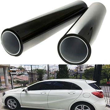 Gogolo 2pcs 50x100cm black car window uv protection adhesive tint film sun shade wrap sticker 8