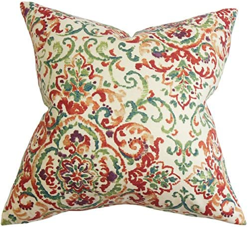 The Pillow Collection Halcyon Floral Pillow, Multi