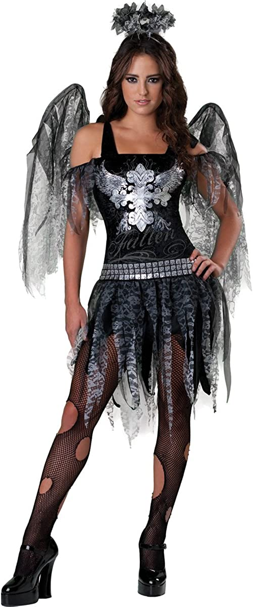 Amscan Fallen Angel Halloween Teens Girls Fancy Dress Costume